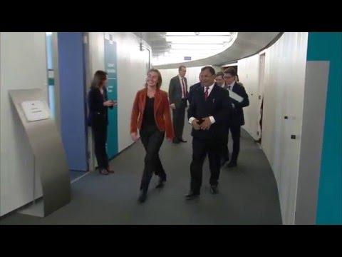 Mogherini meets Mahamat Saleh Annadif Special Representative of Ban Ki Moon