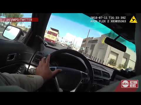 Insane police chase in Las Vegas today