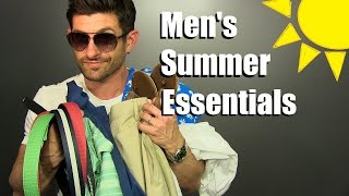 7 Mens Summer Essentials | Warm Weather Style Must Haves & Favorites