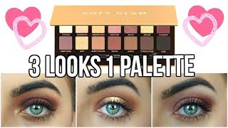 NEW Anastasia Beverly Hills Soft Glam Tutorial | 3 Looks 1 Palette