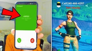 I put my PHONE NUMBER in my Fortnite Name and thirsted every kill..