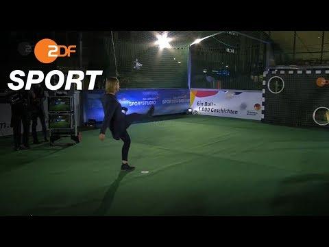 Sensationell! Inka Grings trifft fünfmal an der Torwand   das aktuelle sportstudio - ZDF
