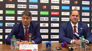 """ХК """"Автомобилист"""" vs ХК """"Динамо"""" (Рига), 4:2, 02/09/2018. Пресс-конференция."""