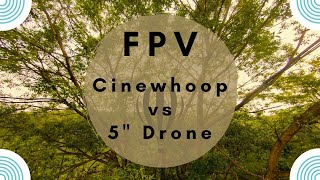 "Cinewhoop Drone vs 5"" Freestyle Drone ! Romania FPV."