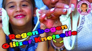 REGENBOGEN GLITZER KNETSEIFE - Rainbow glitter dough Soap - CuteBabyMiley