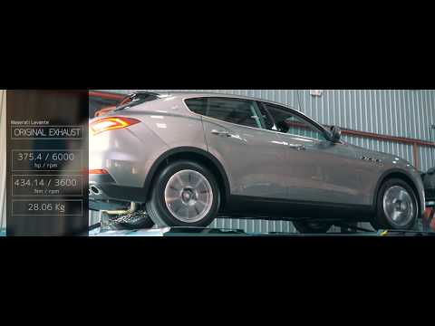 The iPE Titanium exhaust for Maserati Levante