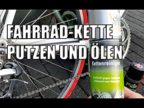 Fahrrad Kette putzen und ölen aber richtig
