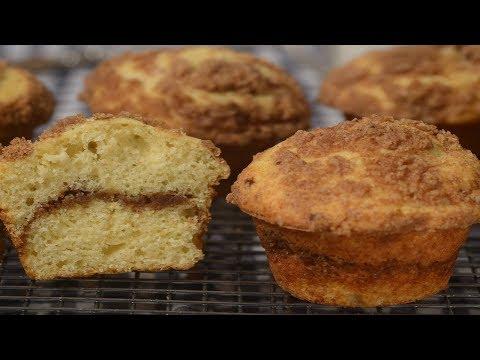 Coffee Cake Muffins Recipe Demonstration – Joyofbaking.com
