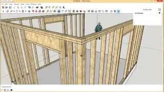 Framing Exterior Wall Corners - Requested SketchUp Video
