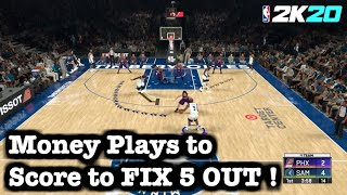 NBA 2K20 Best Playbook Tips How to FIX 5 Out Spacing Freelance Tutorial: Best Freelance Offense 2K20