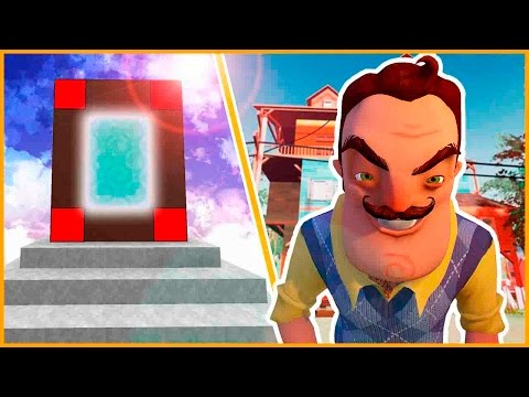 Como HACER un PORTAL a la DIMENSION de HELLO NEIGHBOR - MINECRAFT