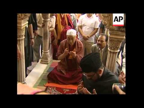 Download Tibet's spiritual leader visits ancient Jama Masjid mosque Mp4 HD Video and MP3