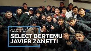 Pemain Garuda Select Bertemu Langsung Legenda Inter Milan Javier Zanetti di Italia