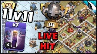 *LIVE 11v11 CWL Bat Spell Attack* Planning War Attack | Clash of Clans