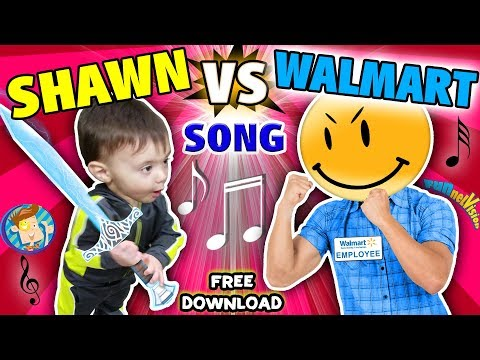 Download BABY SHAWN vs  WALMART! Kids Rap Song  Touch & Rhyme  Challenge FUNnel Vision Music Video Vlog Mp4 HD Video and MP3