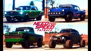 Need For Speed Payback Реликвии Все Машины Игры Гонки NFS 2017
