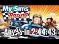 wr Mysims Racing Any Speedrun In 2:44:43