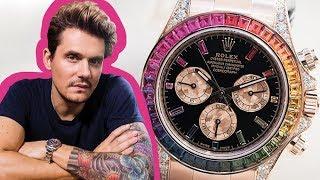 John Mayer's Multi-MILLION $$ Watch Collection: Rolex Daytona, Patek Philippe, And More!