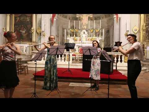 Bizet Carmen Flute quartet arr.Jason Carr, performed in Flutes in Tuscany