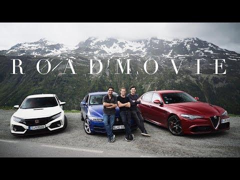 Alfa Romeo Giulia QV vs. Honda Civic Type R vs. Jaguar XE 30t | Drei Kultautos gegens Timmelsjoch!