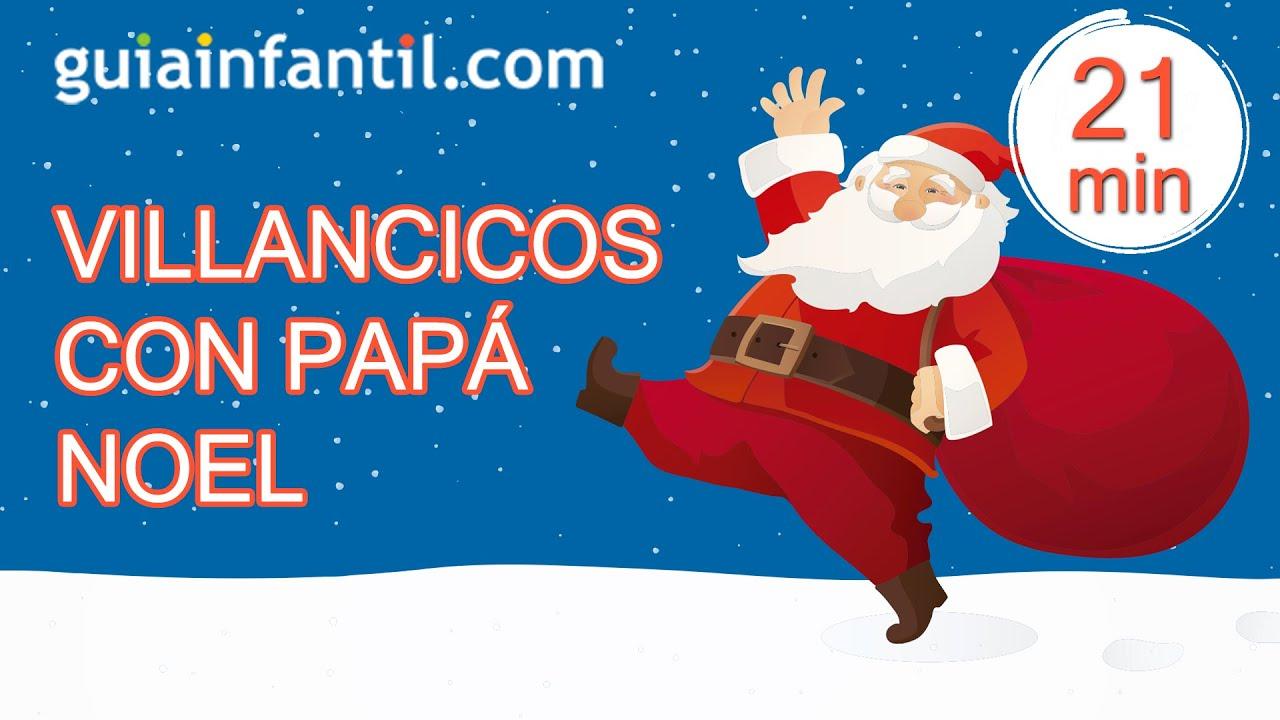 Canciones de Navidad divertidas bailadas por Papá Noel | Villancicos para niños