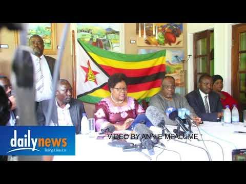 Joice Mujuru press conference on Zimbabwe situation