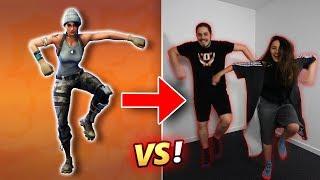 FORTNITE DANCES IN REAL LIFE CHALLENGE!! (100% CRINGE) - VINCENT VS EVA S2 #3