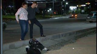 Мотоциклист погиб после удара о бордюрный камень в Хабаровске.MestoproTV