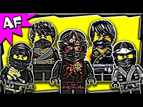 Lego Ninjago Cole BLACK NINJA Minifigures Complete Collection