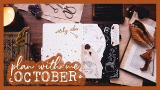 PLAN WITH ME | October 2019 Bullet Journal Set Up - YouTube