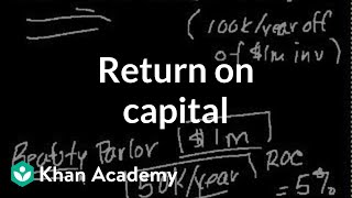 Return on capital   Finance & Capital Markets   Khan Academy