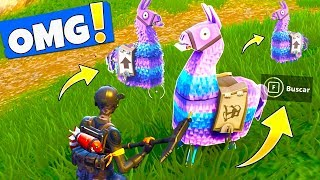 COMO ENCONTRAR *LLAMAS* en FORTNITE | LOCALIZACIÓN COFRES SUMINISTRO (Fornite Battle Royale)