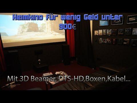 Günstiges Heimkino für unter 900 Euro mit 3D Beamer, 5.1 Sound,Master HD, Lautsprecher..