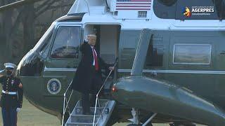 Donald Trump a părăsit Casa Albă