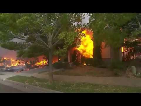 Wildfires destroying homes in Santa Rosa, California