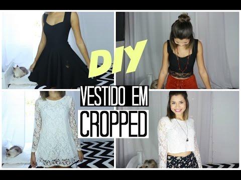 Transformando vestidos em blusas ou cropped | CUSTOMIZAÇÃO rápida, simples e fácil