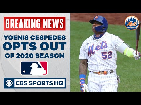 Mets' Yoenis Cespedes OPTS OUT of 2020 MLB season after not showing up to ballpark vs. Braves