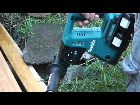 Makita DHR264  36v (2x18v) Combination Hammer Drill Tests