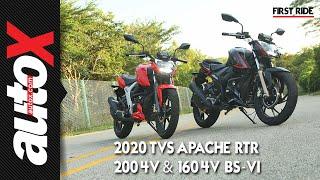 TVS Apache RTR 200 4V BS-VI & RTR 160 4V BS-VI First Ride Review