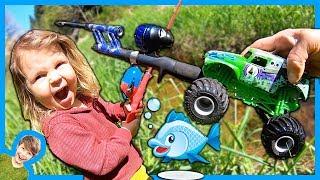 Monster Trucks Go Fishing!