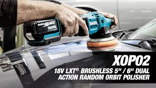 "MAKITA 18V LXT® Brushless 5"" / 6"" Dual Action Random Orbit Polisher - Thumbnail"