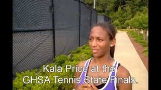 Kala Price at the GHSA Tennis State Finals.