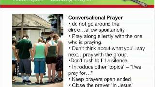Adults - Part 6: Techniques for Leading Prayer