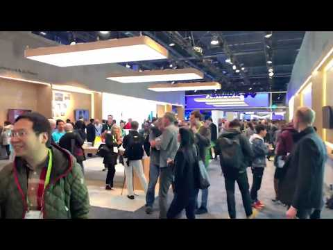 CES 2019 North Hall Walkthrough Sony, Samsung, LG, Huawei, Qualcomm, AI by Intel