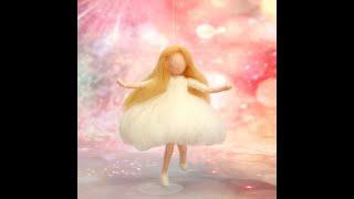 A0295 Angel Fairy Girl Wool Needle Felt For Christmas Birthday Gift