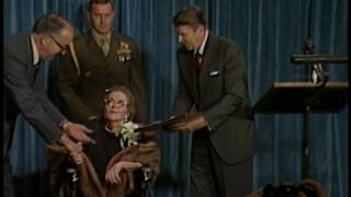 President Reagan Presents The Presidential Medal Of Freedom Award To Kate Smith On October 26, 1982