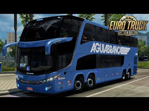 Paradiso 1800 DD | Aguia Branca | São Paulo/Vitória - Euro Truck Simulator 2 – Mod Bus