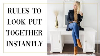 DRESSING RULES EVERYONE SHOULD KNOW TO LOOK PUT TOGETHER once and for all