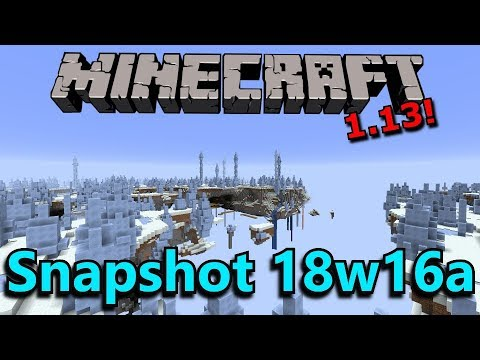 Minecraft 1.13 Snapshot 18w16a- Buffet Worlds, Blue Ice Changes, Bug Fixes!