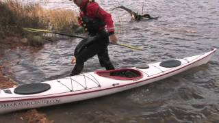 Launching and landing in a sea kayak